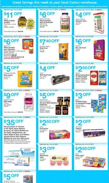 Costco Weekly Handout Instant Savings Coupons East (Jan 4-10)