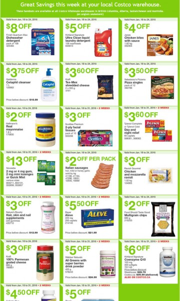 Costco Weekly Handout Instant Savings Coupons West (Jan 18-24)