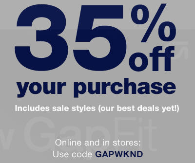 GAP 35 Off Your Purchase Promo Code (Jan 17-18)