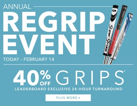 Golf Town Annual Regrip Event (Jan 14 - Feb 14)
