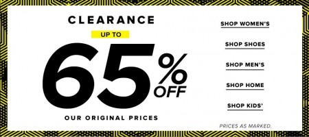 Hudson's Bay Clearance up to 65 Off