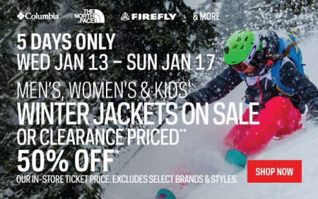 Sport Chek Winter Jackets on Sale on Clearance Priced (Jan 13-17)