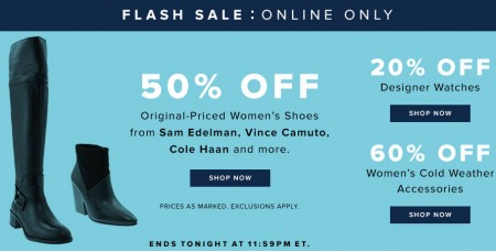 TheBay Flash Sale - 50 Off Women's Shoes and 20 Off Designer Watches (Jan 20)