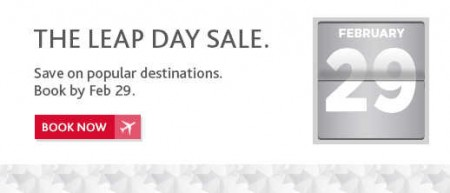 Air Canada The Leap Day Sale - Save on Popular Destinations (Book by Feb 29)