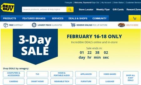 Best Buy 3-Day Sale (Feb 16-28)