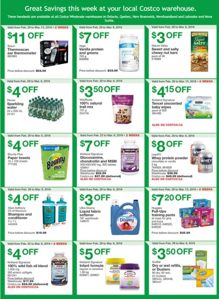 Costco Weekly Handout Instant Savings Coupons East (Feb 29- Mar 6)