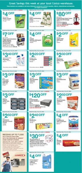 Costco Weekly Handout Instant Savings Coupons West (Feb 15-21)