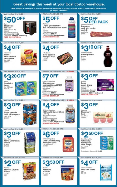 Costco Weekly Handout Instant Savings Coupons West (Feb 22-28)