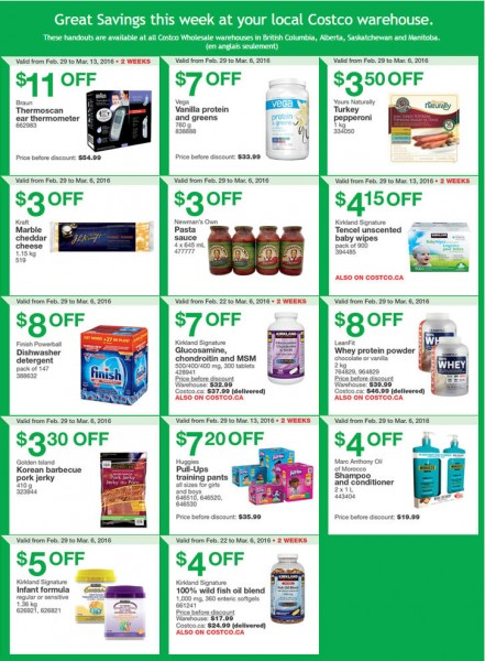 Costco: Weekly Handout Instant Savings Coupons West (Feb ...