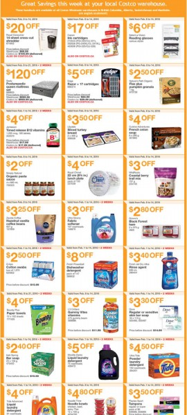 Costco Weekly Handout Instant Savings Coupons West (Feb 8-14)