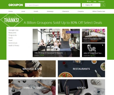 Groupon A Billion Groupons Sold! Save up to 80 Off Select Deals!