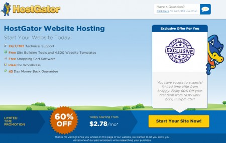 HostGatorExclusive Offer - 60 Off All Web Hosting Plans Promo Code (Feb 17-29)