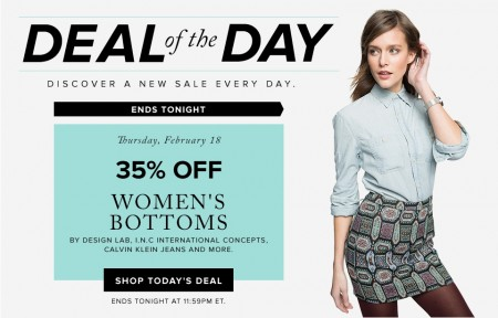Hudson's Bay Deal of the Day - 35% Off Women's Bottoms (Feb 18)