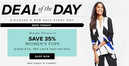 Hudson's Bay Deal of the Day - Save 35 Off Women's Tops (Feb 11)