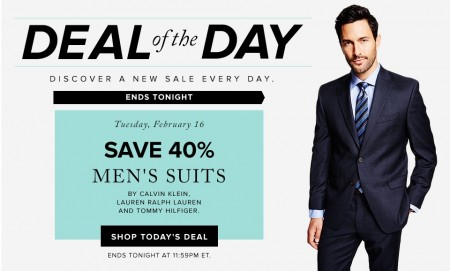 Hudson's Bay Deal of the Day - Save 40 Off Men's Suits (Feb 16)