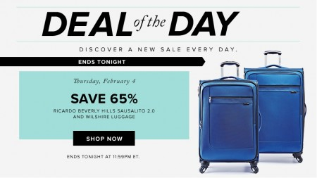 Hudson's Bay Deal of the Day - Save 65 Off Select Luggage (Feb 4)