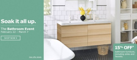 IKEA The Bathroom Event - 15 Off All Bathroom Furniture (Until Mar 7)