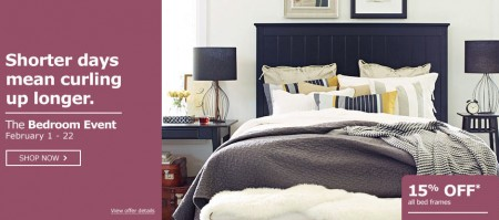 Ikea the bedroom event 15 off all bed frames feb 1 22 for Ikea cyber monday 2016