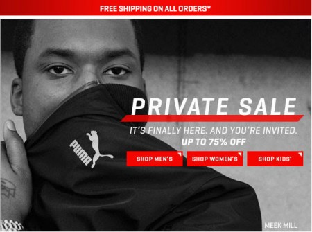 PUMA Private Sale - Save up to 75 Off + Free Shipping (Feb 14-15)