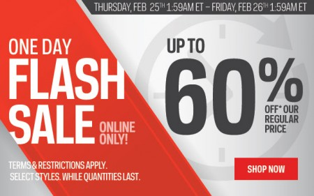 Sport Chek 1-Day Flash Sale - Save up to 60 Off (Feb 25)
