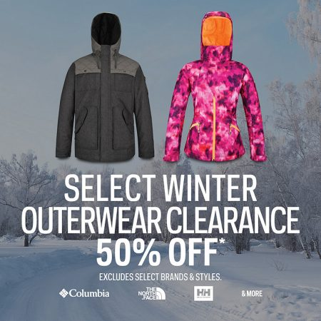 Sport Chek Select Winter Outerwear Clearance (Feb 9-15)