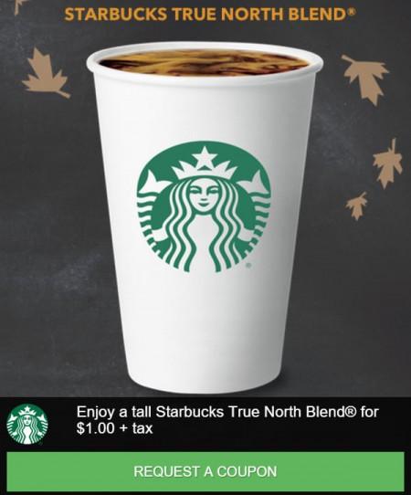 Starbucks $1 Coupon for Tall Starbucks True North Blend (Until Mar 31)