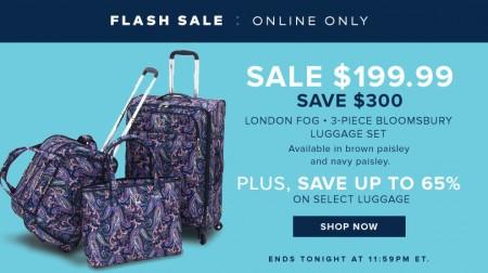 TheBay Flash Sale - 60 Off London Fog 3-Piece Luggage Set, Plus up to 65 on Select Luggage (Feb 17)