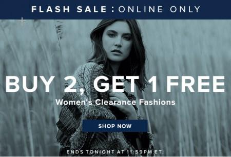 TheBay Flash Sale - Buy 2, Get 1 Free Women's Clearance Fashions (Feb 3)