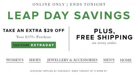 TheBay Leap Day Savings - Extra $29 Off $175 Purchase Code + Free Shipping Every Order (Feb 29)