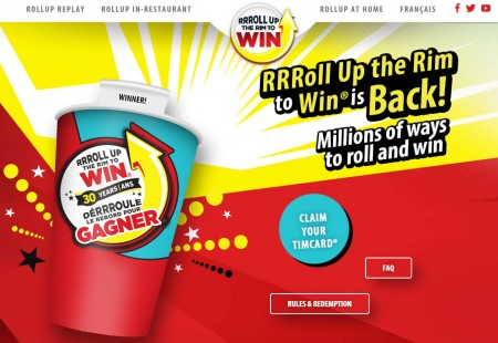 Tim Hortons RRRoll Up the Rim to Win is Back! (Until Apr 17)
