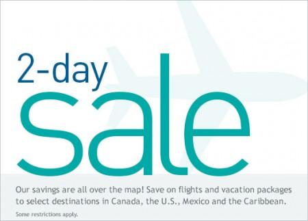 WestJet 2-Day Seat Sale (Feb 23-24)
