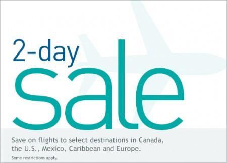 WestJet 2-Day Seat Sale (Feb 3-4)