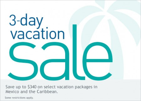WestJet 3-Day Vacation Sale (Feb 9-11)