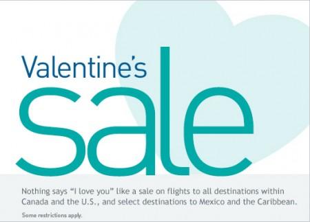 WestJet Valentine's Seat Sale (Feb 10-16)