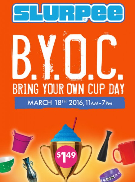 7-Eleven Bring Your Own Cup Day - $1.49 for Any Cup Slurpee (Mar 18)