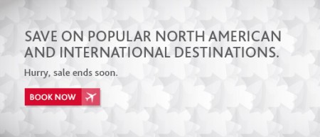 Air Canada Save on Popular North American and International Destinations (Book by Mar 7)