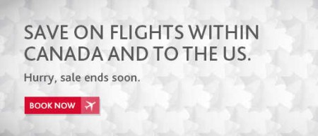 Air Canada Spring Sale - Save on Flights within Canada and to US (Book by Mar 31)