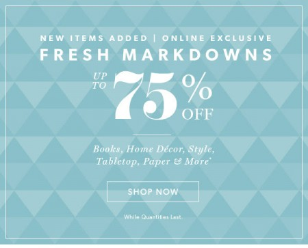 Chapters Indigo Fresh Markdowns up to 75 Off!