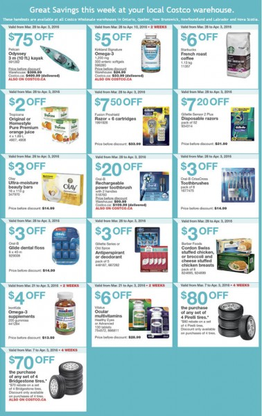 Costco Weekly Handout Instant Savings Coupons East (Mar 28 - Apr 3)