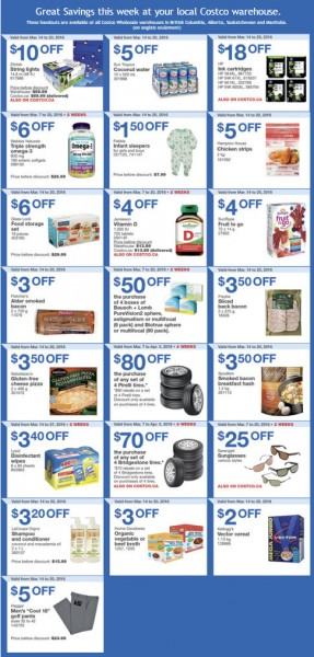 Costco Weekly Handout Instant Savings Coupons West (Mar 14-20)