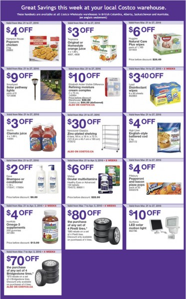 Costco Weekly Handout Instant Savings Coupons West (Mar 21-27)