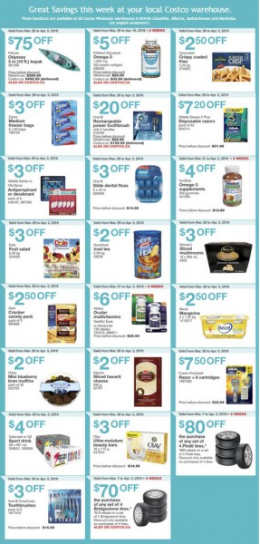 Costco Weekly Handout Instant Savings Coupons West (Mar 28 - Apr 3)