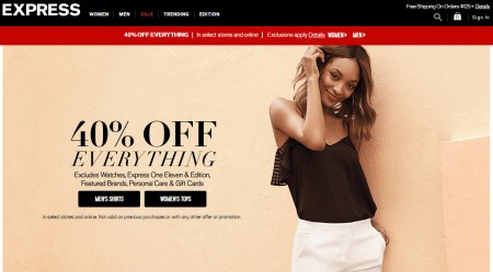 Express 40 Off Everything (Mar 24-28)