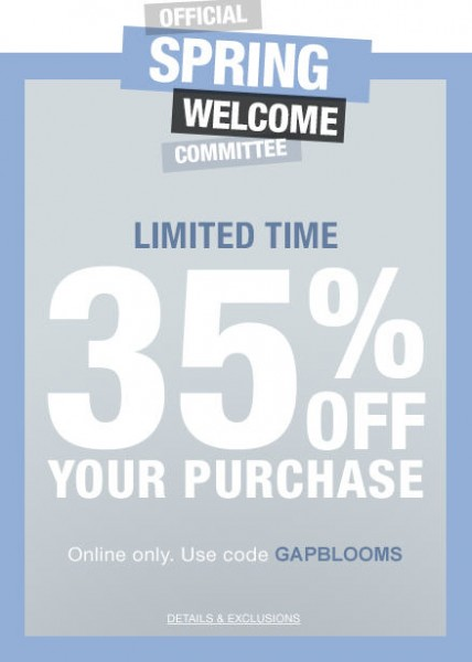 GAP 35 Off Your Purchase Promo Code (Mar 20-21)