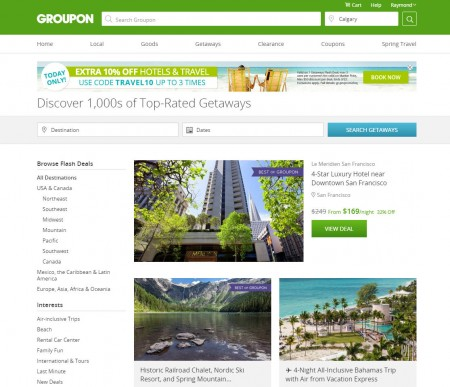 Groupon Today Only - Extra 10 Off Hotels & Travel Deals Promo Code (Mar 22)