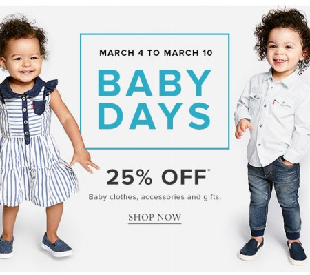Hudson's Bay Baby Days - 25 Off Baby Clothes, Accessories and Gifts (Mar 4-10)