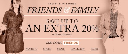 Hudson's Bay Friends & Family Sale - Extra 15-20 Off Almost Anything (Mar 30 - Apr 4)