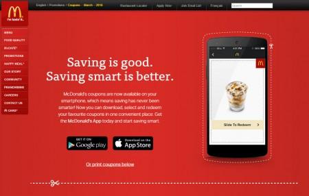 Mcdonalds smartphone coupons
