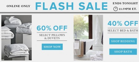 TheBay Flash Sale - 60 Off Pillows & Duvets, 40 Off Bed & Bath (Mar 29)