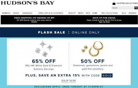 TheBay Flash Sale - 65 Off Effy 14K White Gold & Diamond Solitaire Earrings (Mar 6)